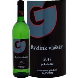 Ryzlink vlašský 2017 polosladké