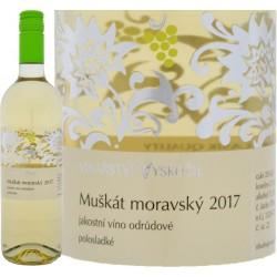 Muškát moravský 2017 polosladké