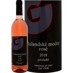 Rulandské modré rosé 2018 polosladké